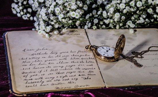 Vintage, Romantic, Flowers, Pocket Watch, Historic