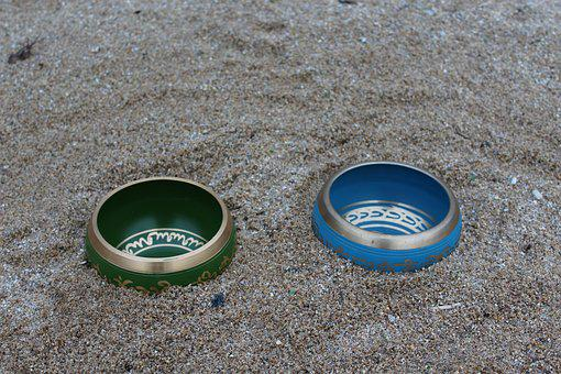 Throat, Heart, Tibetan, Singing Bowl, Beach, Sand
