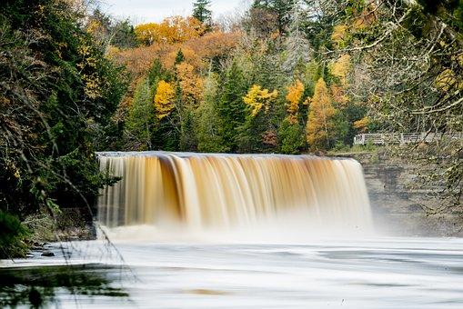 Tahquamenon Falls, Waterfall, Scenic, Michigan, Nature