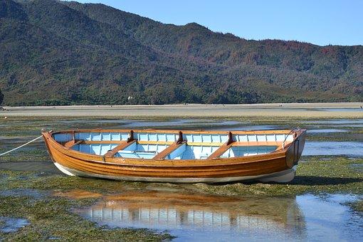 Boat, Beach, Water, Stranded, Sand, Calm, Sea, Summer