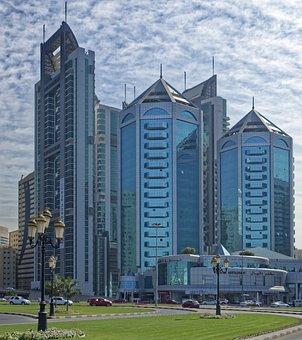 U A E, Sharjah, Skyline, Architecture, City, Building