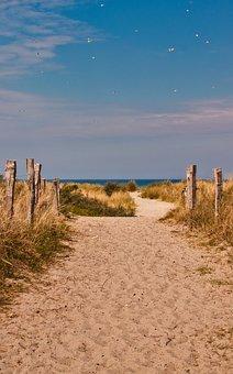 Beach, Vacations, Away, Sea, Sky, Sand, Blue, Relax