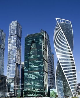 Moscow, Moscow City, Russia, Skyscraper, Megalopolis