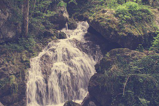 Waterfall, Landscape, River, Water, Nature, Stream
