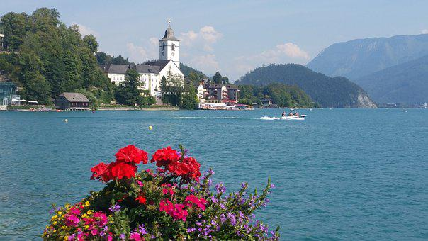 Lake Wolfgang, Bavaria, Summer