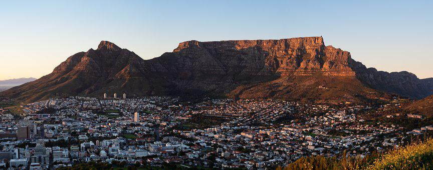 Table Mountain, Devil's Peak, Cape Town, Sunrise, Dawn