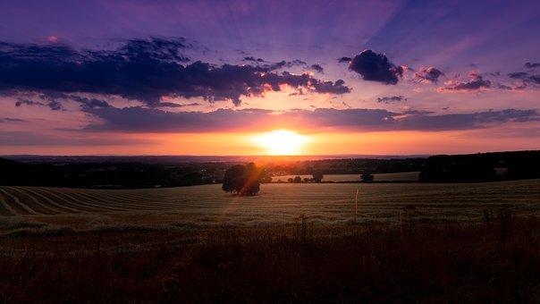 Sunset, Clouds, Sky, Landscape, Mood, Evening, Dusk