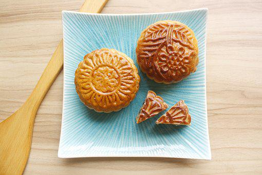 Cake, Moon Cake, Food, Sweet, Delicious, Sweets
