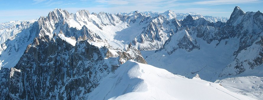 The Alps, Mountains, Winter, Alpine, France, Nature