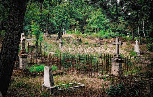 Cemetery, Graves, The Tomb Of, Dreary, Atmosphere, Tomb