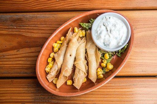 Tortilla, Taquitos, Dip, Mexican Cuisine, Mexican Food