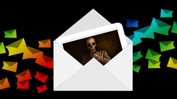 Envelope, At, Mail, Virus, Virus Warning, Trojan