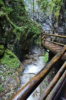 Alps, Austria, Defile, Dr, Vogelgesang Klamm,, Summer