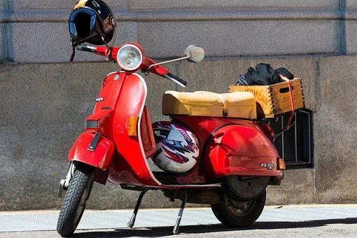 Moto, Wasp, Retro, Vintage, Classic, Locomotion