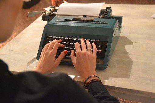 Typewriter, Secretary, Write, Machine, Retro, Type