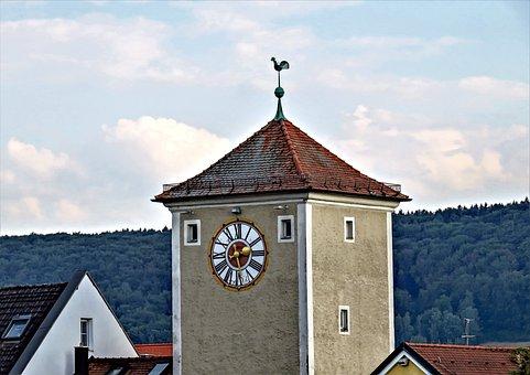 Tower, Old Citywall, Altmühltor, Kelheim, Bavaria