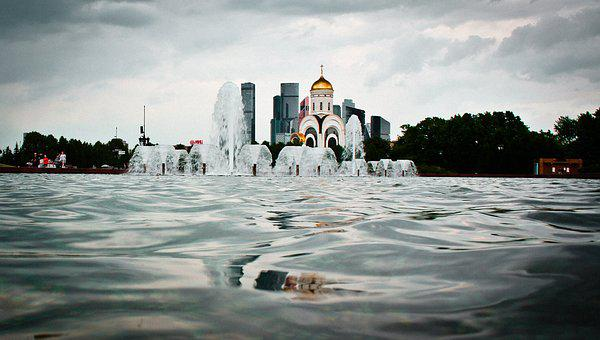 Russia, Source, Architecture, Park, Tourism, Water
