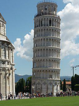 Pisa, Tower, Italy, Architecture, Building, Tuscany