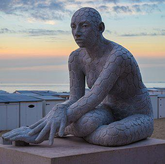 Rabarama, Art, Culture, Statue, Sea, Sculpture, Sunset