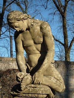 Sculpture, Stone, Art, Courtyard Garden, Veitshoechheim
