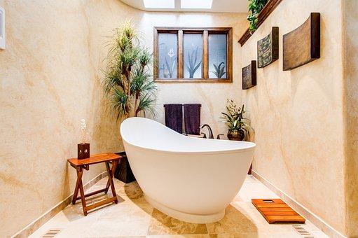 Home, Decor, Real Estate, Bathroom, Bathtub