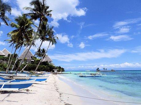 Philippines, Beach, Holidays, The Coast, Boats, Boat