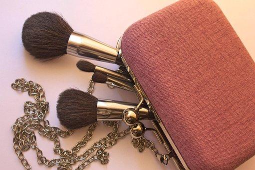 Cosmetics, Brush, Makeup, Make-up, Bag, Handbag, Set