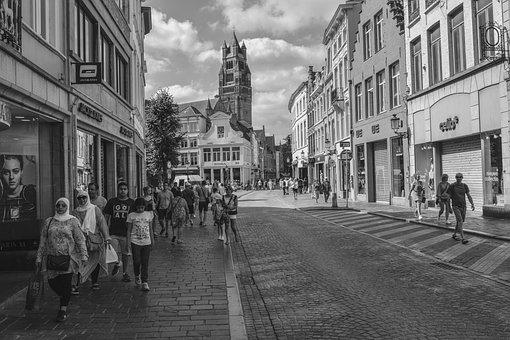 Brugge, Street, Buildings, Architecture, Tourism