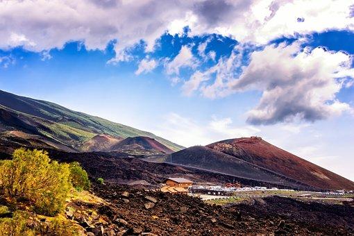 Volcano, Mountain, Lava, Etna, Sicily, Italy, Catania