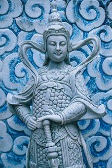 Buddhism, Buddhist, Blue, Clouds, Curves, Peace, Pray