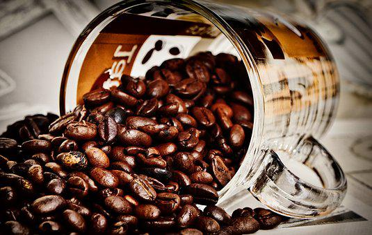 Coffee Beans, Coffee, Glass, Caffeine, Aroma, Food