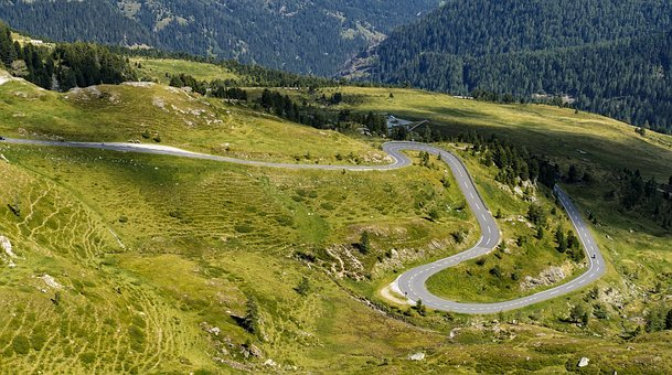 Away, Road, Curve, Curvaceous, Target, Travel, Meadow