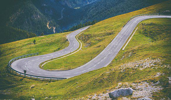 Road, Away, Route, Pass Road, Mountain Road, Curves