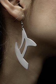 Earrings, Jewelry, Daniel, Silver, Ear, Needle, Hole