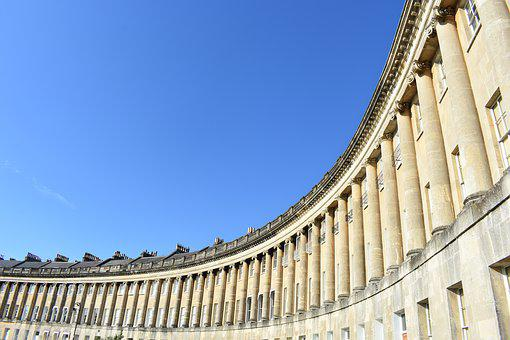 Royal Crescent, Bath, England, Uk, United Kingdom