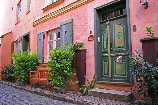 Stralsund, Historic Center, Entrance Door, Architecture
