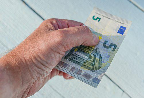 Money, Euro, Give, Five, Finance, Wealth, Currency