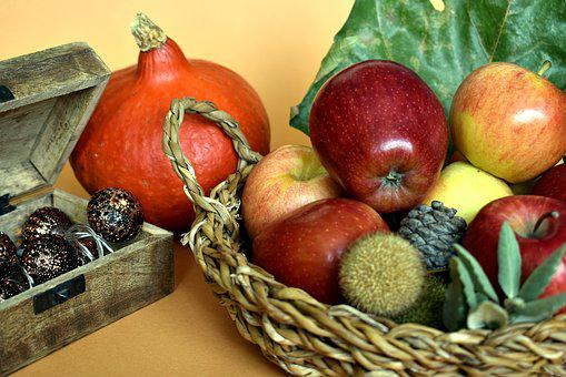 Apples, Fruit, Fruit Basket, Basket, Autumn, Fall, Food