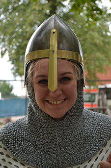 Woman, Knight, Middle Ages, Armor, Female