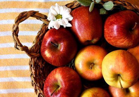 Apples, Fruit, Fruit Basket, Fruit Bowl, Basket, Autumn