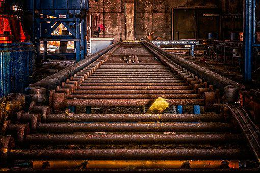 Transport, Conveyor Belt, Industry, Lost Places
