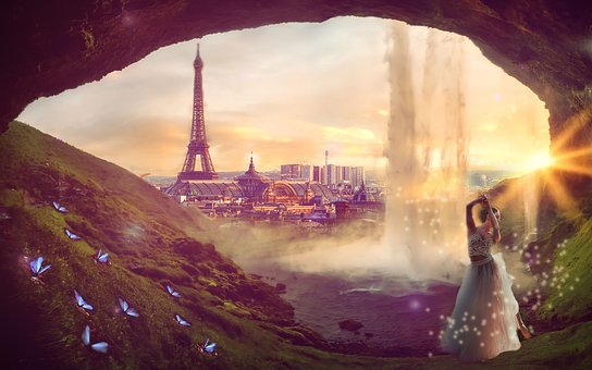 Nature, Waterfall, Landscape, Paris, Ballerina, Ballet