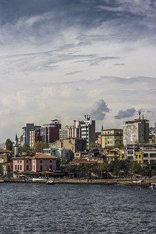 Marine, Estuary, Landscape, Turkey, Istanbul, Sky
