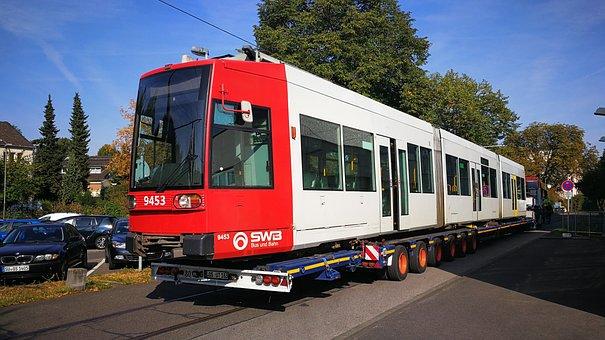 öpnv, Tram, Low-floor Cars, Heavy Transport, Repair