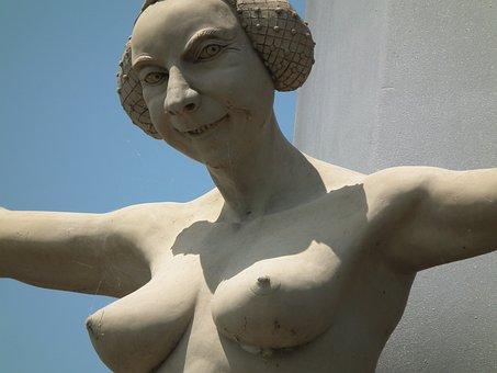 Sculpture, Art, Steering, Meersburg, Pillar, Wendelgard