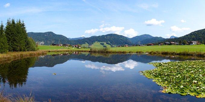 Nature, Landscape, Mountains, Bavaria, Lake