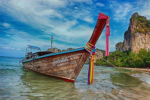 Thailand, Railay, Krabi, Paradise, Beach, Ocean, Sea