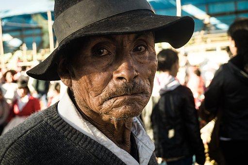 Old Age, Festival, Oldman, Peruvian, Lightandshadow
