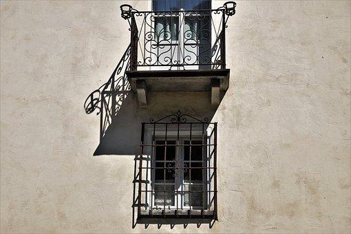 Old Windows, Balcony, Facade, Building, Old, Façades