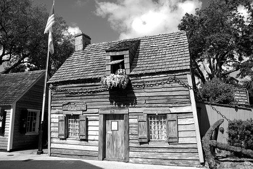 Oldest Wooden Schoolhouse, School, Wood, Antique, Aged